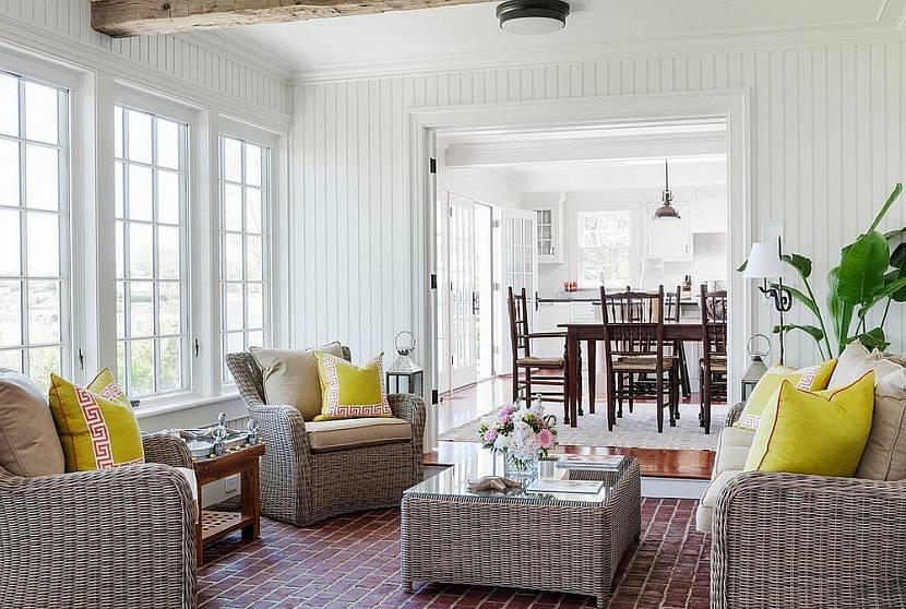 Плетеная мебель как черта британского стиля