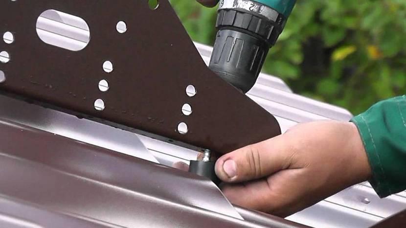 установка снегозадержателей на металлочерепицу цена