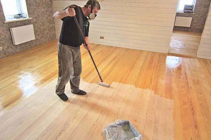 чем покрасить деревянный пол в дачном доме