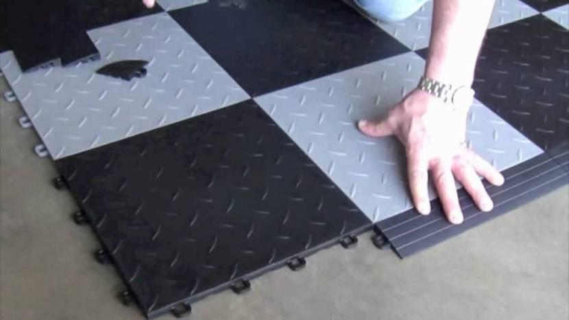 резиновая плитка для гаража