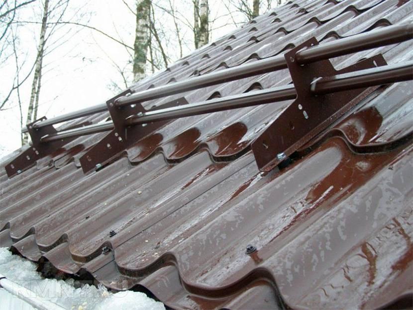 монтаж снегозадержателей на металлочерепицу цена за работу в москве
