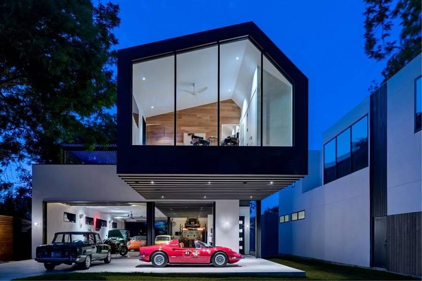каркасный гараж со вторым этажом