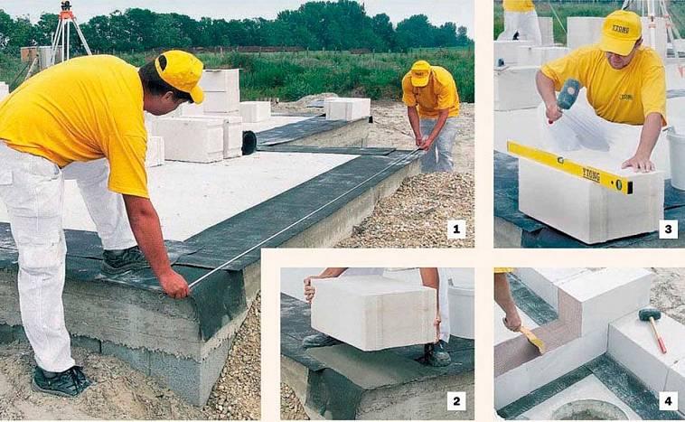как класть стены из газоблока