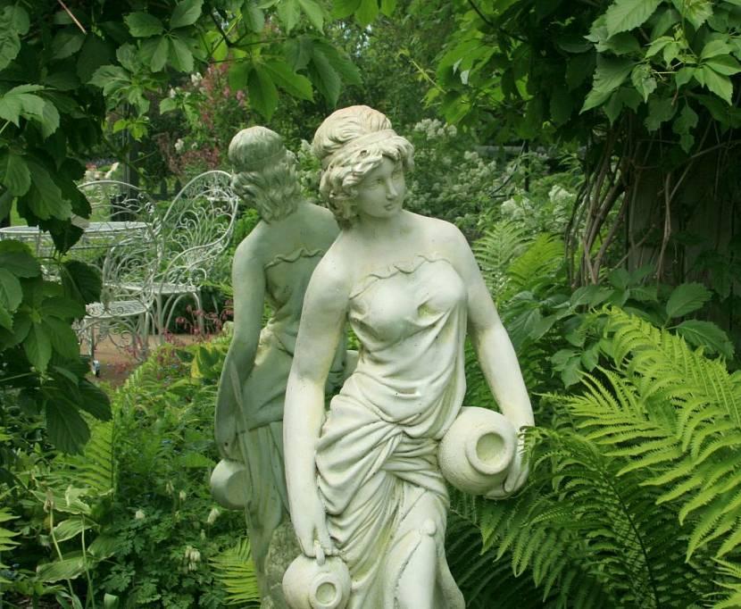 садовые фигурки из гипса