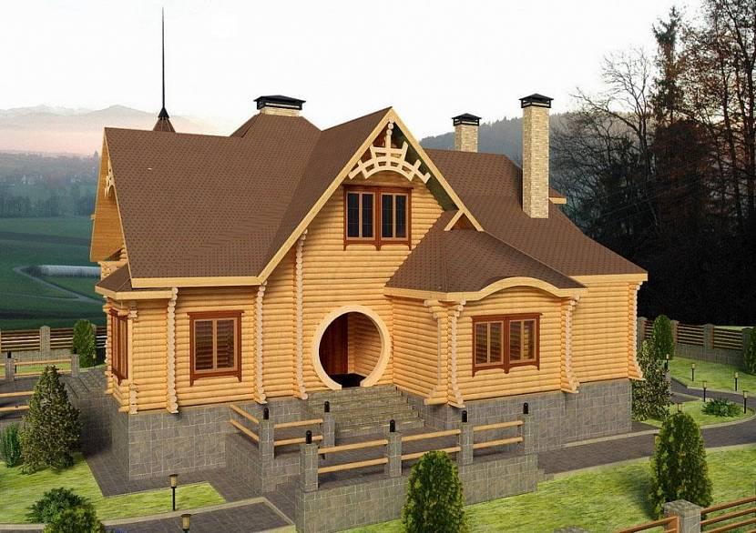Из оцилиндрованного бруса можно выстроить настоящий дворец