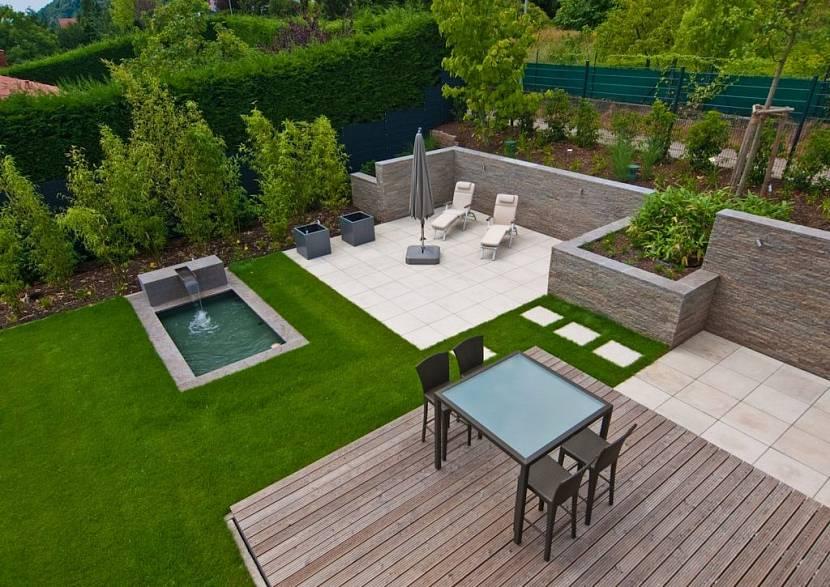 сад в стиле минимализм ландшафтный дизайн