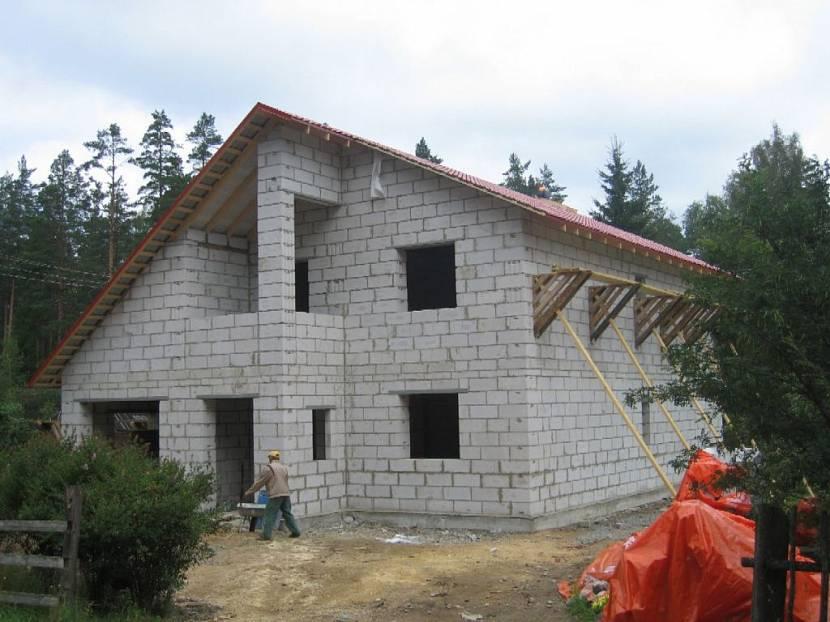 дом 10 на 12 из газобетонных блоков