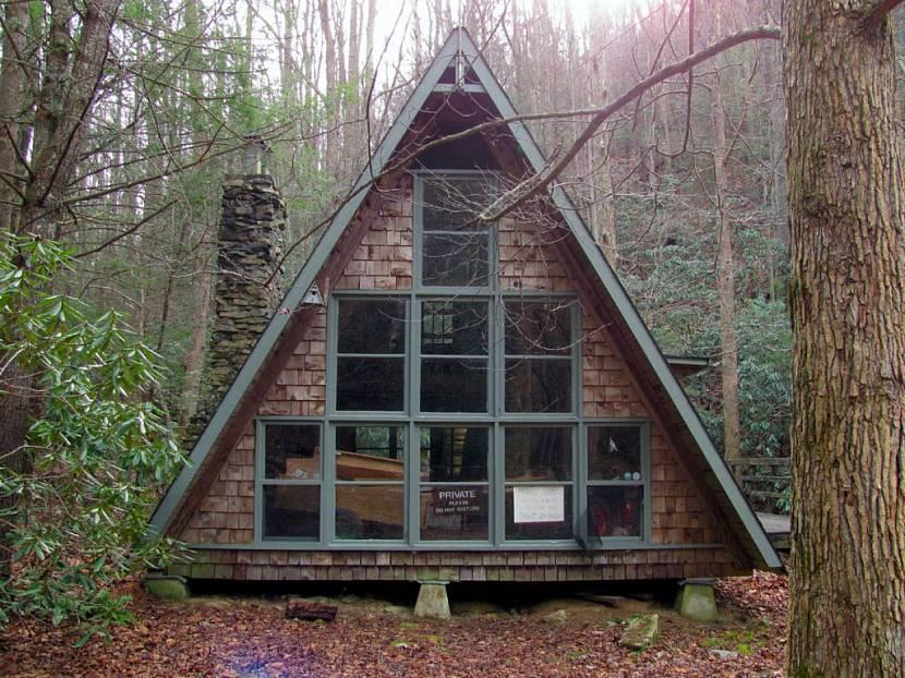 дом с двухскатной крышей до земли проект