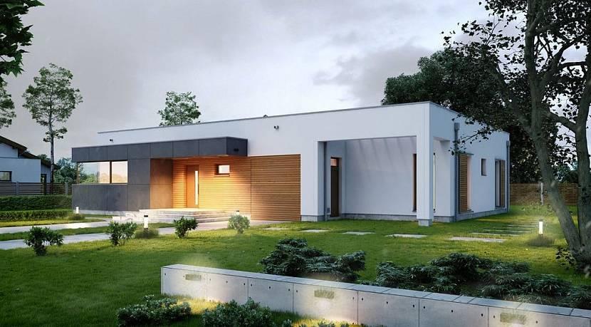 проекты домов с плоской крышей в стиле хай-тек