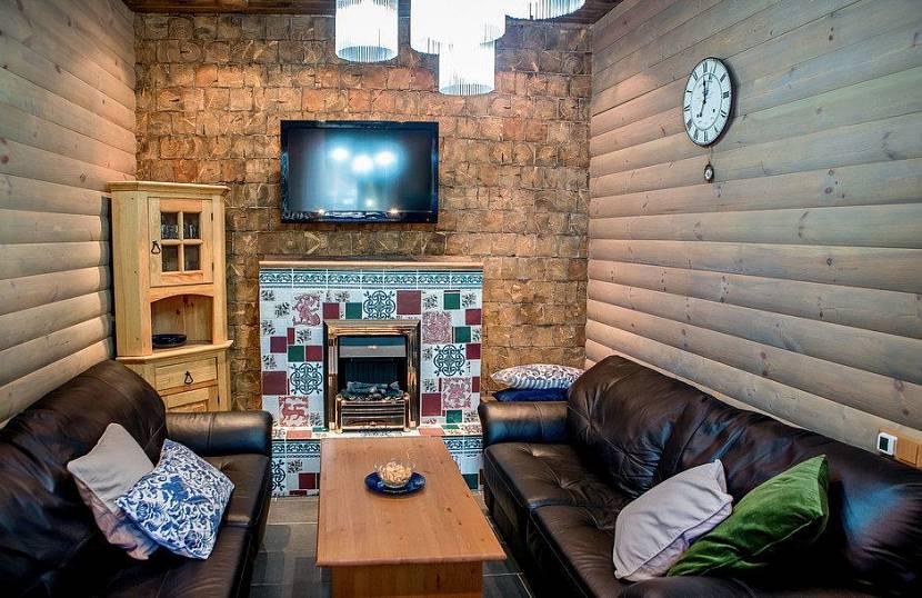 одноэтажная баня с комнатой отдыха