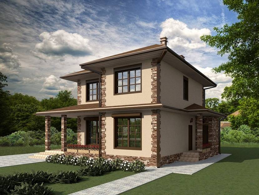 проекты домов из арболитовых блоков