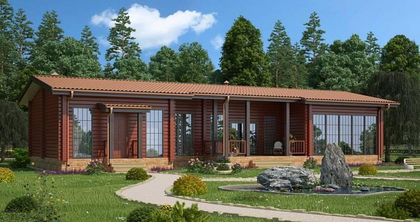 дом из бруса с баней под одной крышей проекты