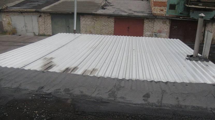 покрыть гараж технониколем