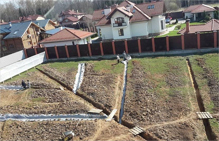 планировка участка 10 соток с домом