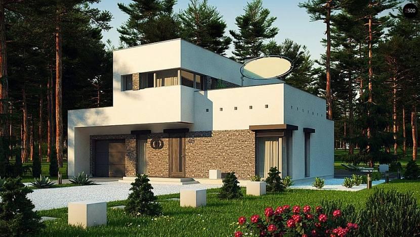 проекты домов хай тек модерн с плоской кровлей
