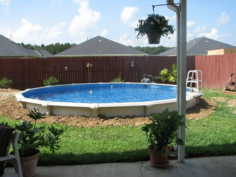 основа для бассейна на даче