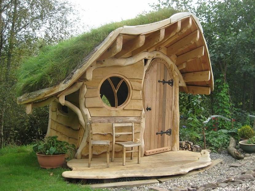 детский деревянный домик