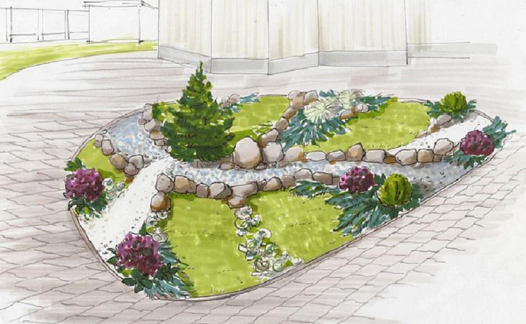 Проект клумбы: выбор формы, места и цветов