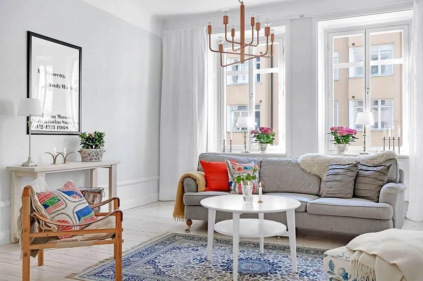 мебель для гостиной в скандинавском стиле