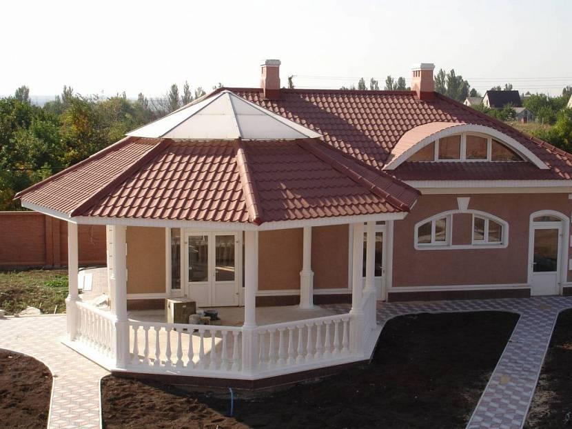 крыша на террасе к дому
