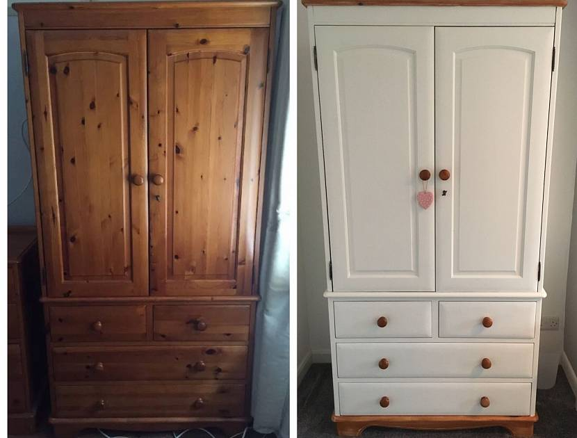 Белая краска для шкафа