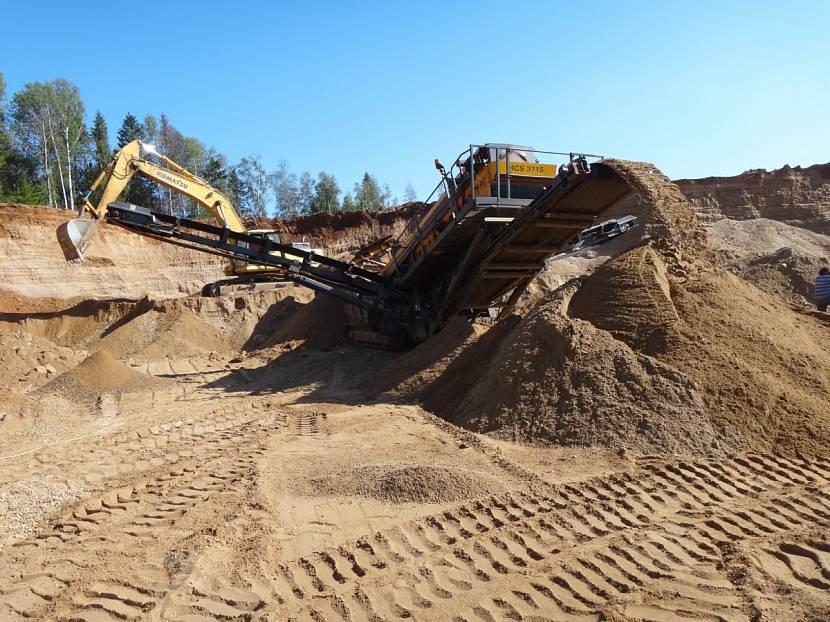 добывание песка и гравия