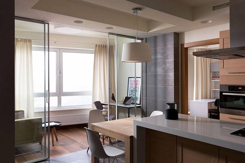 Соединение балкона с кухней фото