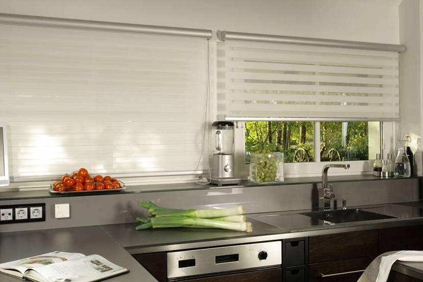 Рулонные шторы день-ночь для кухни