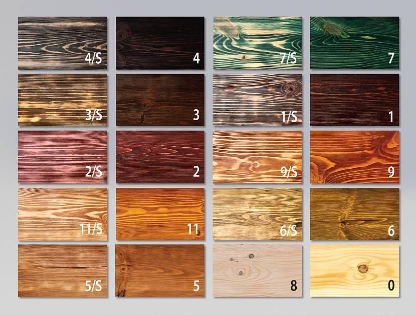 Варианты красок для древесины