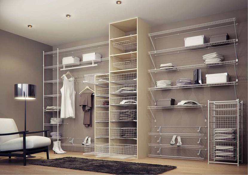 Сетчатые системы наполнения гардеробной