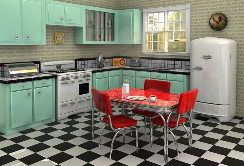 Красивый интерьер кухни в старинном стиле