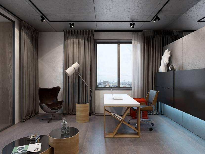 Светлый стол в стиле лофт для кабинета