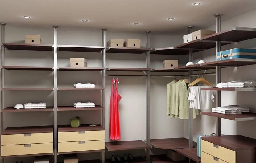 Зонирование гардеробной