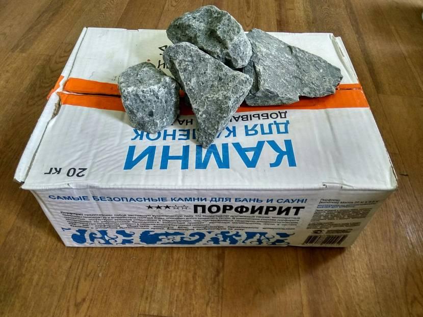 Упаковка колотого порфирита