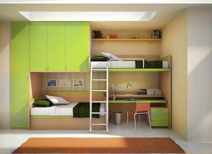 Двухъярусная мебель в детской