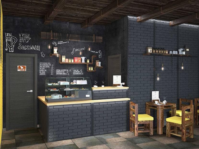Грифельная стена в кафе