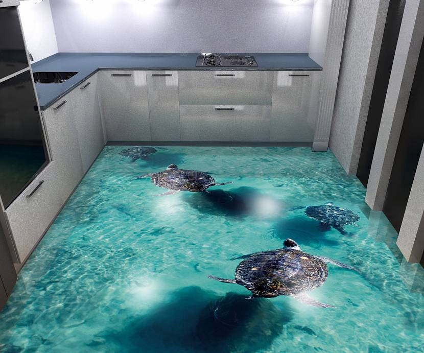 3D полы на кухне