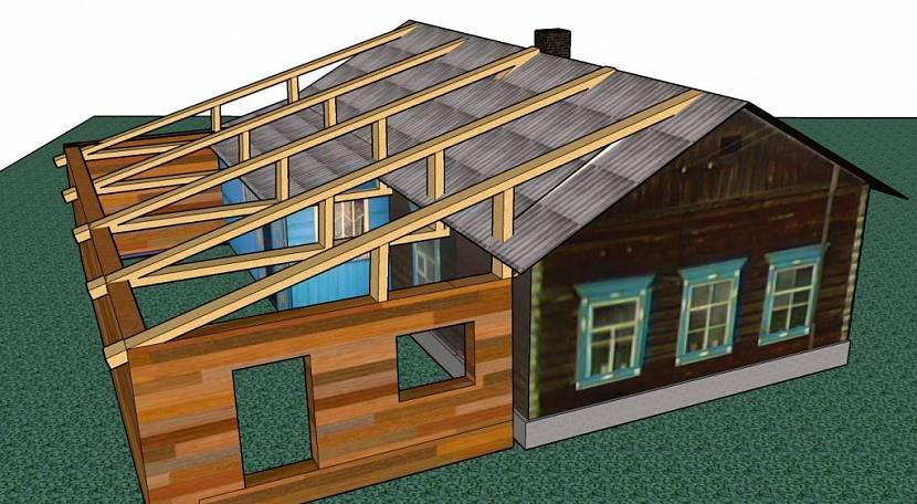 сборка крыши веранды