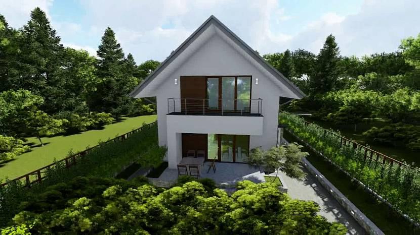 Узкий двухэтажный дом