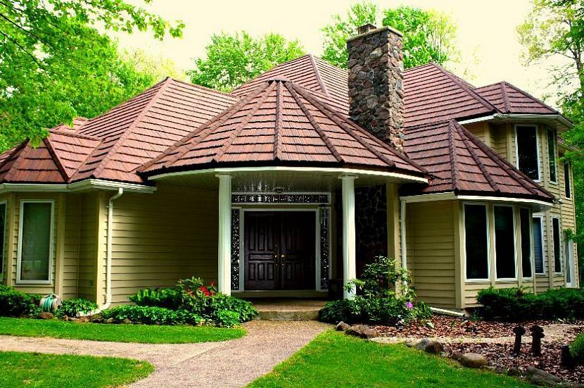 крыша для загородного дома в картинках бросового