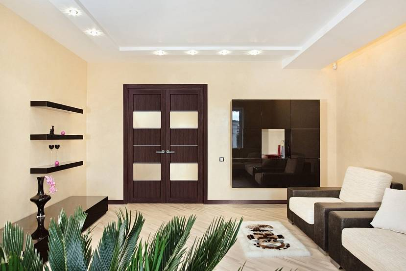 Контемпорари и светлые фона комнаты