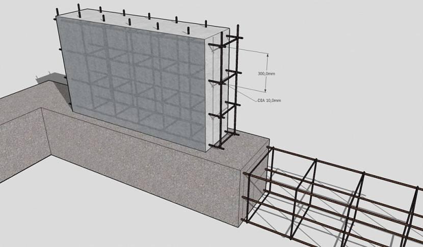 Проект армирования фундамента с подвалом