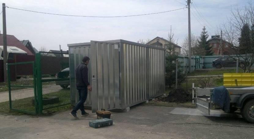 Открываем блок контейнер и торговая точка готова к работе