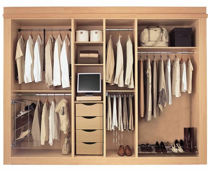 Глубокий встраиваемый шкаф