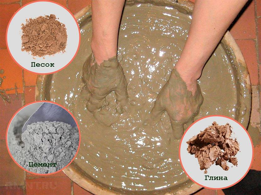 Рецепт шамотной замазки