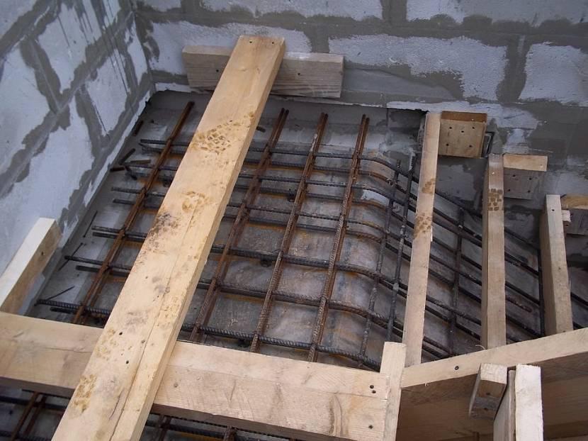 Схема армирования лестницы