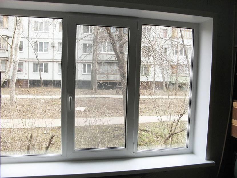 Трёхстворчатое пластиковое окно