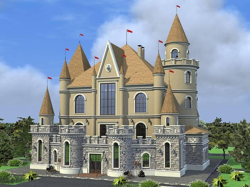 Фото домов в стиле крепость подобрать