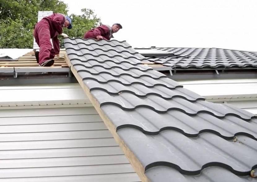 размер металлочерепицы для крыши длина и ширина