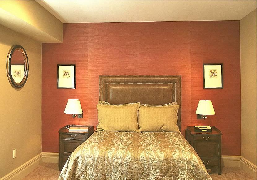 Терракотовая спальня
